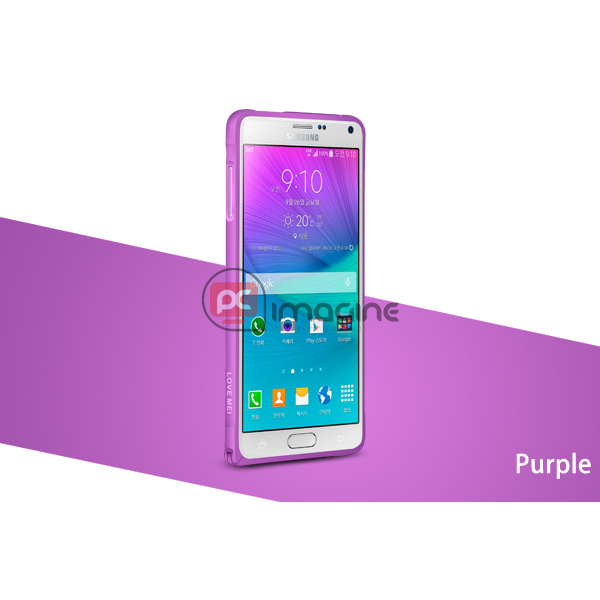 Bumper Note 4 Love Mei Metal Lila