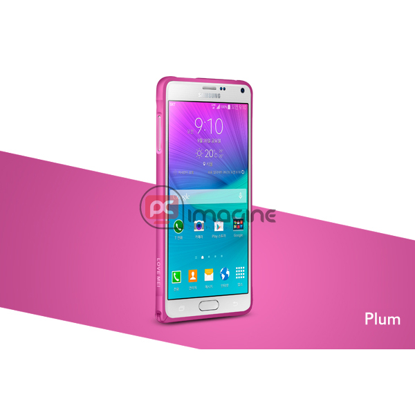 Bumper Note 4 Love Mei Metal Ciruela