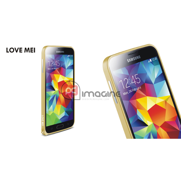 Bumper S5 Love Mei Metal Gold | Galaxy s5 (g900)