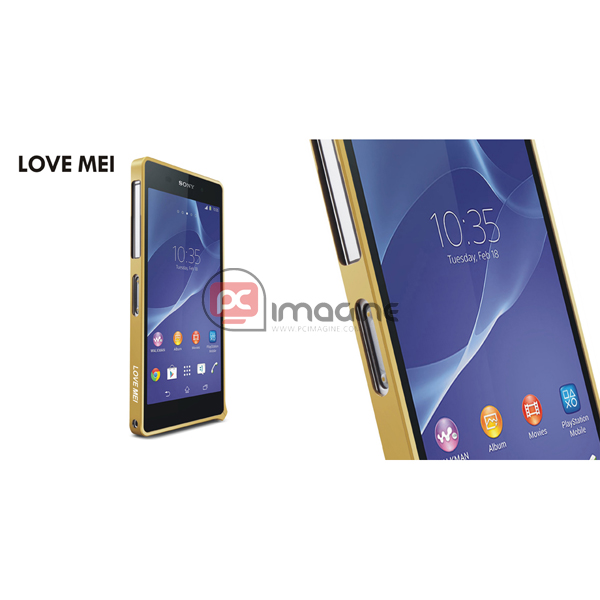Bumper Xperia Z2 Love Mei Metal Gold