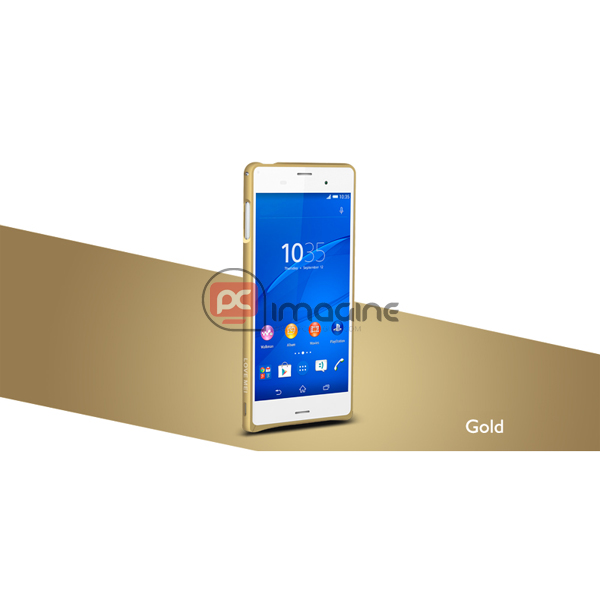 Bumper Xperia Z3 Love Mei Metal Gold