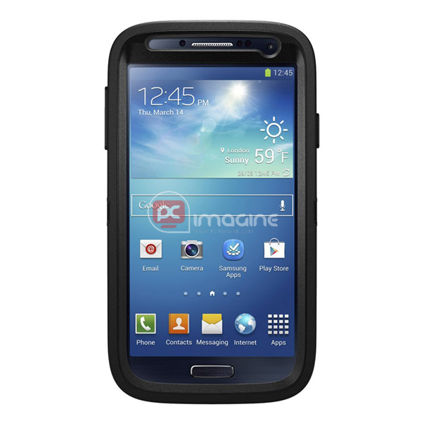 Defender Series Case Negra para Galaxy S4