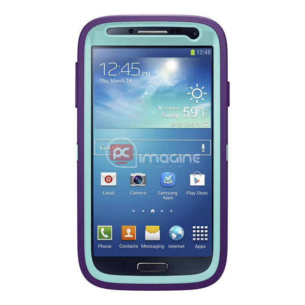 Defender Series Case Lila para Galaxy S4
