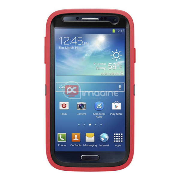Defender Series Case Rosa para Galaxy S4